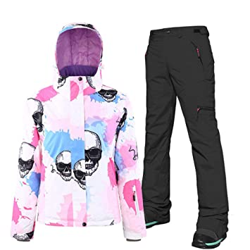 AXIANNV Traje de esquí de Mujer, pantalón de Chaqueta de esquí ...