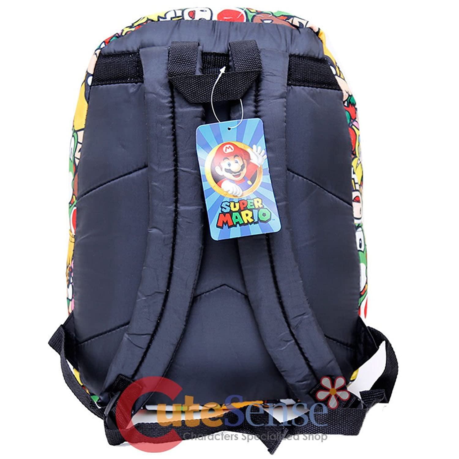 super mario large school backpack all over prints