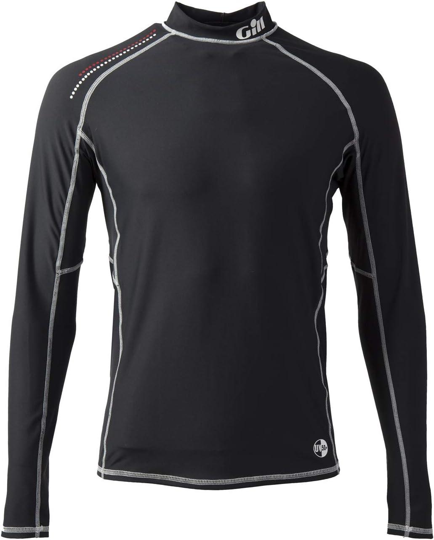 UV-Sonnenschutz und SPF-Eigenschaften Musto Herren Insignia UV Fast Dry Langarm T-Shirt T-Shirt Top Schwarz