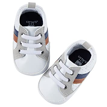 b5000b294c928 Image Unavailable. Image not available for. Color  Carters Baby Boys Sneaker  Perforated Crib Shoes ...