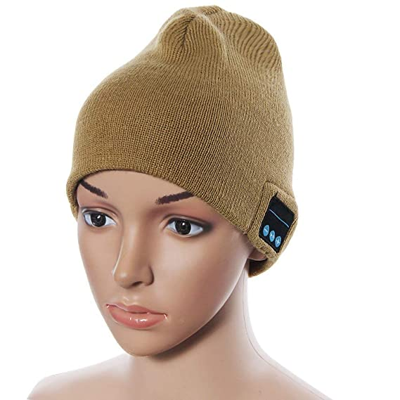 b9b14f599 Cupidove Soft Warm Wireless Beanie Smart Winter Knit Hat V4.2 Wireless  Musical Headphones Earphones 2 Speakers Beanies Hats Cap Unique for Men  Women ...