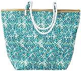 Top It Off Hampton Beach Bag, Green Tribal