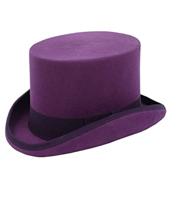 Dobell Mens Purple Top Hat 100% Wool Formal Partywear at Amazon ... 4f00566ab7e