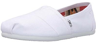 TOMS Classic Optic White Mens Canvas Espadrille Shoes Slipons-8 D9eOcaOngm