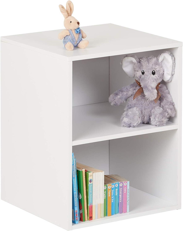 Hartleys Meuble de Rangement pour Enfants Blanc a 4 Cubes