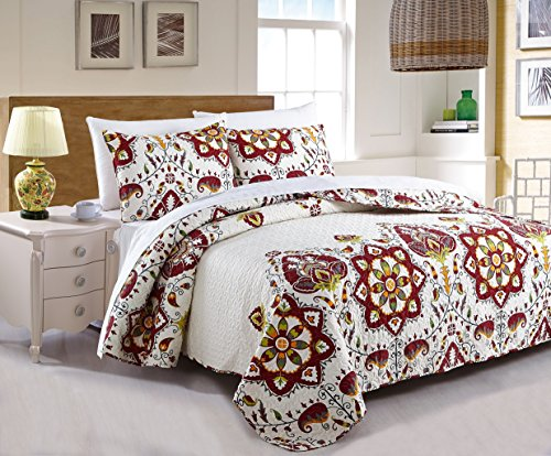 DaDa Bedding Collection Elegant Bohemian Casablanca Quilt Patchwork