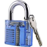 Loboo Idea Zichtbare sleutelhangslot, Transparant Hangslot Crystal Lock Pick Training Praktijkhangslot, Transparant…