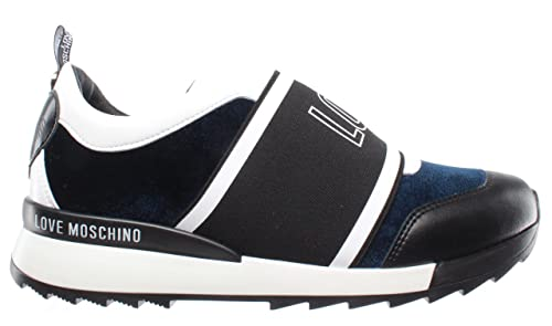 ee8ae5c9b2132 Love Moschino Women's Shoe Sneakers Scarpa D Running 25 Velluto Blu ...