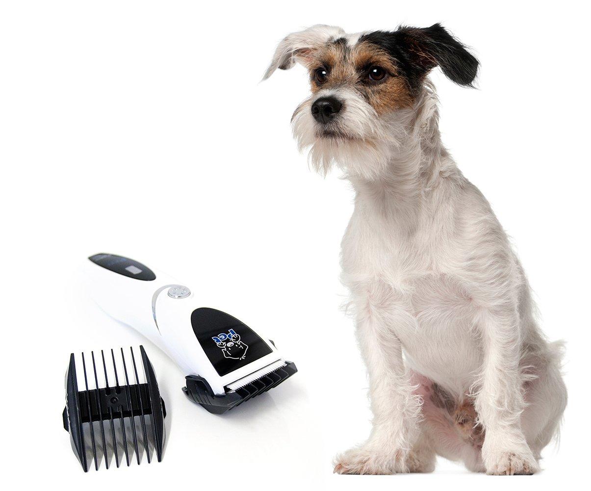Rasoio elettrico ultra professionale Attrezzo elettrico per tosare gli animali domestici Tosatrice elettrica Forbice elettrica per cani colore bianco-argento marchio PRECORN