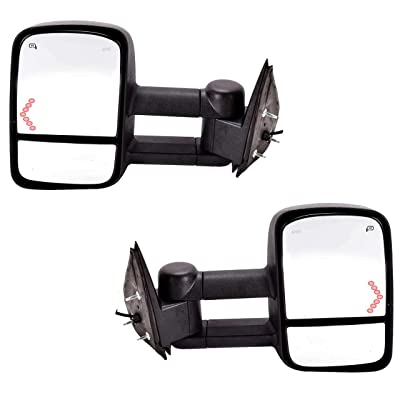 DEDC Tow Mirrors Side Mirrors Towing Mirrors Power Heated with Arrow Signal Light for 2003-2007 Chevrolet Silverado GMC Sierra 1 Pair: Toys & Games