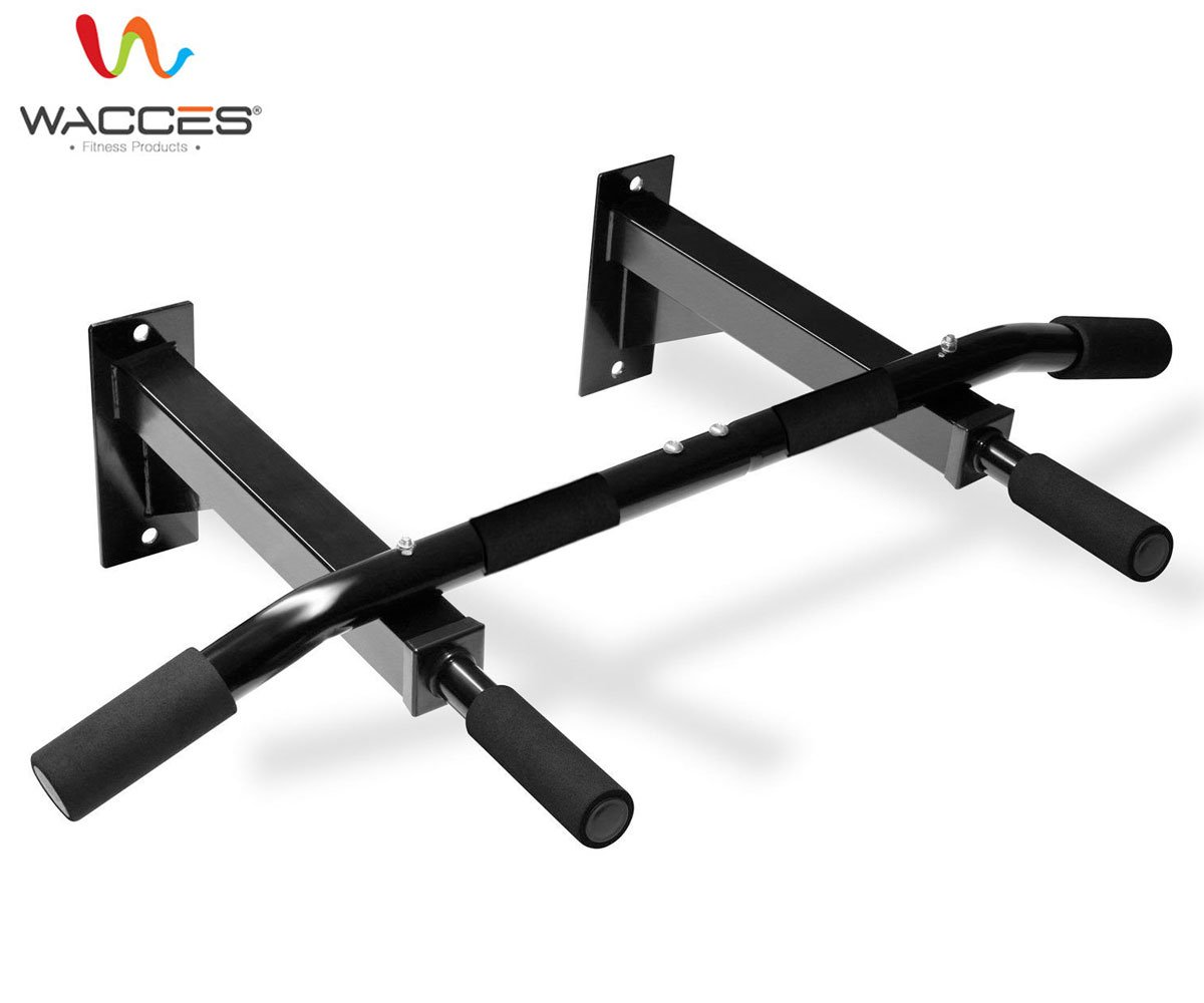 Wacces New Wall-Mounted Chin Up Pull Up Push Up Bar for Body Building, exercises, six packs