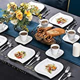 MALACASA 18 Pieces Porcelain Coffee Set Cups and