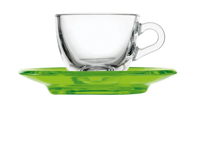 Fratelli Guzzini Drops Coffee Cup, san|glass, Acid Green 21370044