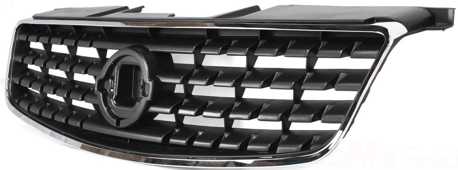 Grille Assembly Compatible with 2005-2006 Nissan Altima Chrome Shell//Painted Dark Gray Insert