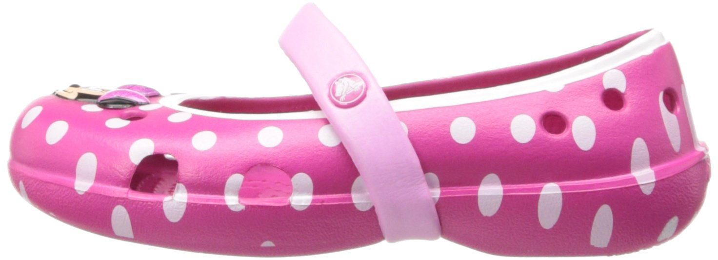 Crocs Keeley Minnie Flat (Toddler/Little Kid),Candy Pink/Carnation,11 M US Little Kid by Crocs (Image #5)