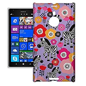 Phone Case For Nokia Lumia 1520 - Zebra Blossoms Purple Premium Slim