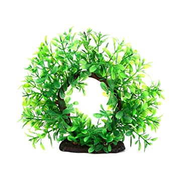Taylorean_Acuario Paisaje decoración Plantas pecera Tanque Decorativo simulación Arco árboles: Amazon.es: Productos para mascotas