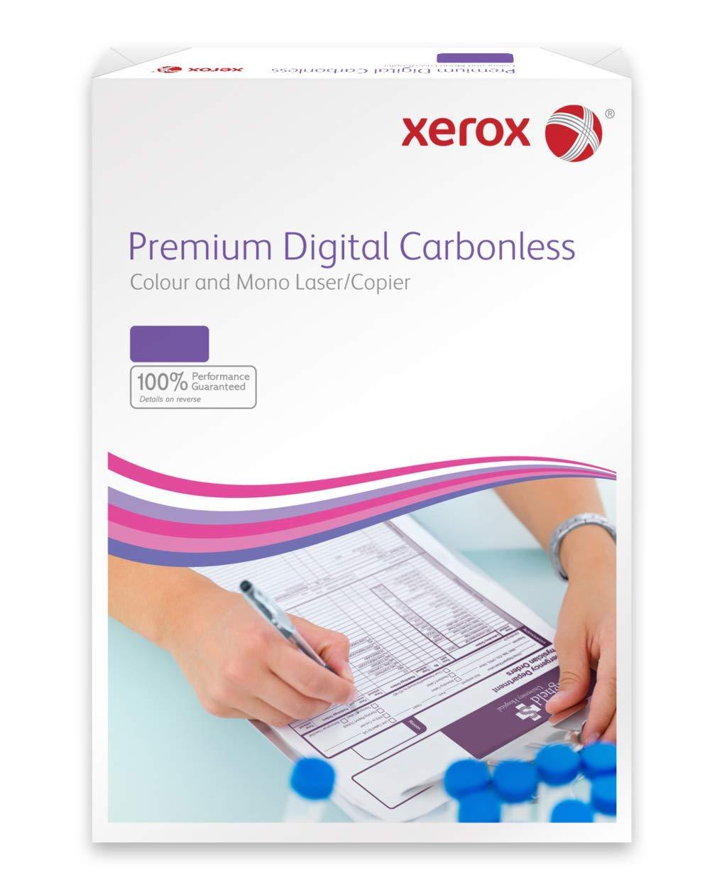 Xerox NCR 003R99105 - Papel autocopiativo para impresoras láser y fotocopiadoras (500 hojas, 2 capas, libre de carbono), color blanco y amarillo