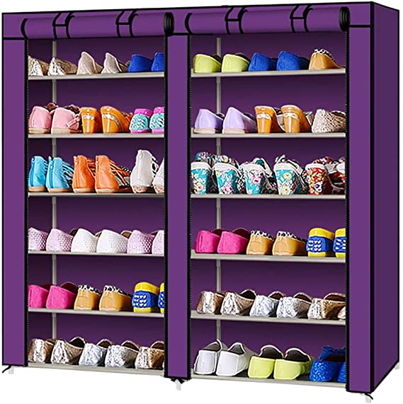 LITING Estante para Zapatos Dormitorio Estante De Almacenamiento En El Hogar Polvo Zapatillas Corredor Pasillo Zapato Estante Y Almacenamiento Zapatero Estante Entrada (Color : Purple): Amazon.es: Hogar