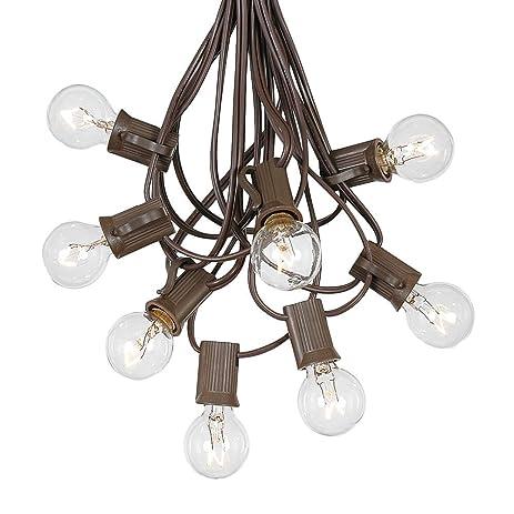 G30 Patio String Lights With 25 Globe Bulbs   Garden Hanging String Lights    Vintage Backyard