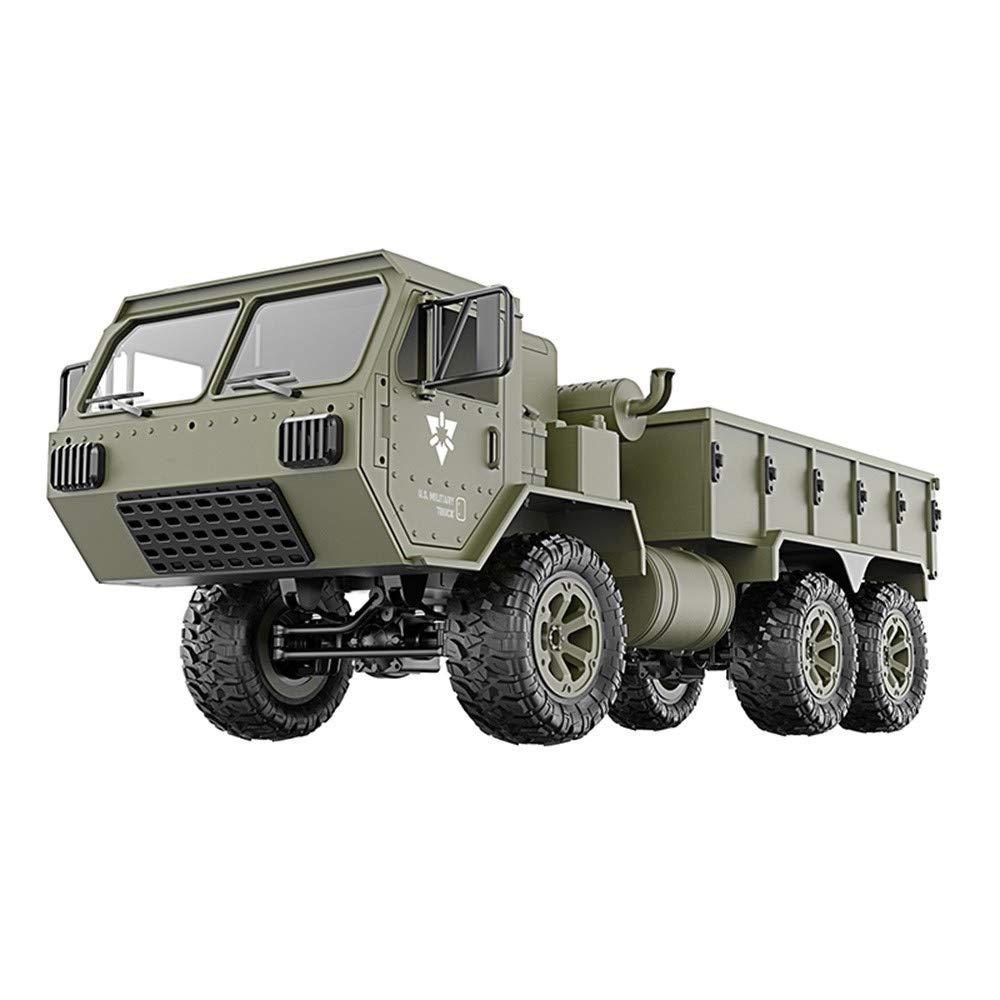 Doppelte Batterie Momola 6WD RC Auto 1 16 2.4G Remote Military Truck,RTR Fahrzeug Crawler Off-Road,Geburtstag Spielzeug Geschenk für Kinder 15km h 49.3x18.1x21cm (Doppelte Batterie)