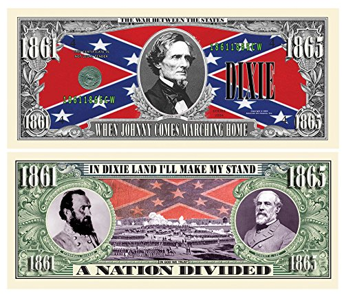 DIXIE COLLECTIBLE DOLLAR BILL (10 bills)