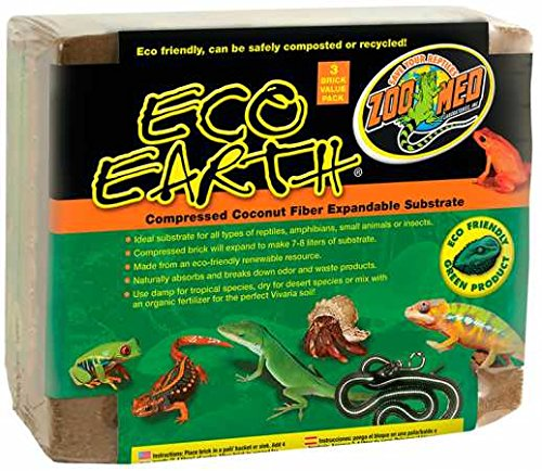 Zoo Med Eco Earth (3 Pack) - Brick Coir
