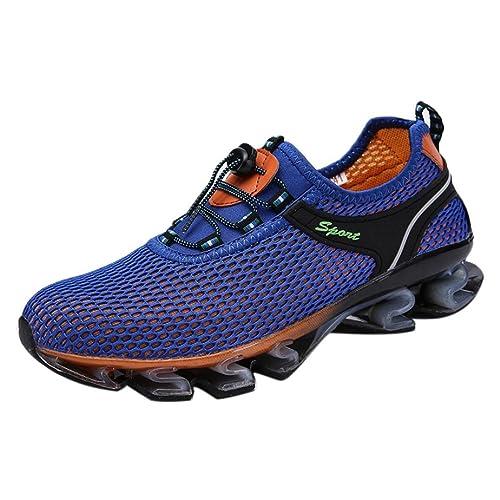 Logobeing Zapatillas Deportivas Hombre - Ofertas Zapatillas de Running Ligeras de Malla para Caminar con Calzado Exteriores Correr en Montaña Aire Libre ...