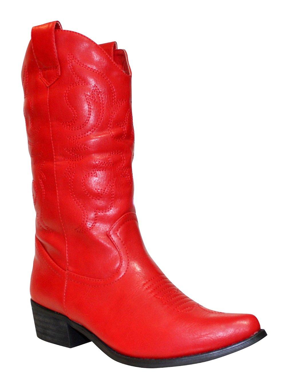 Surdelle - Botas de piel sintética Mujer Rojo
