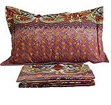 FADFAY Cotton Sheets Exotic Bohemian Style Bed Sheet Set 4Pcs-Twin