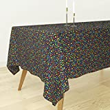 Roostery Tablecloth - Tetris Gaming Geek by Spacefem - Cotton Sateen Tablecloth 70 x 70