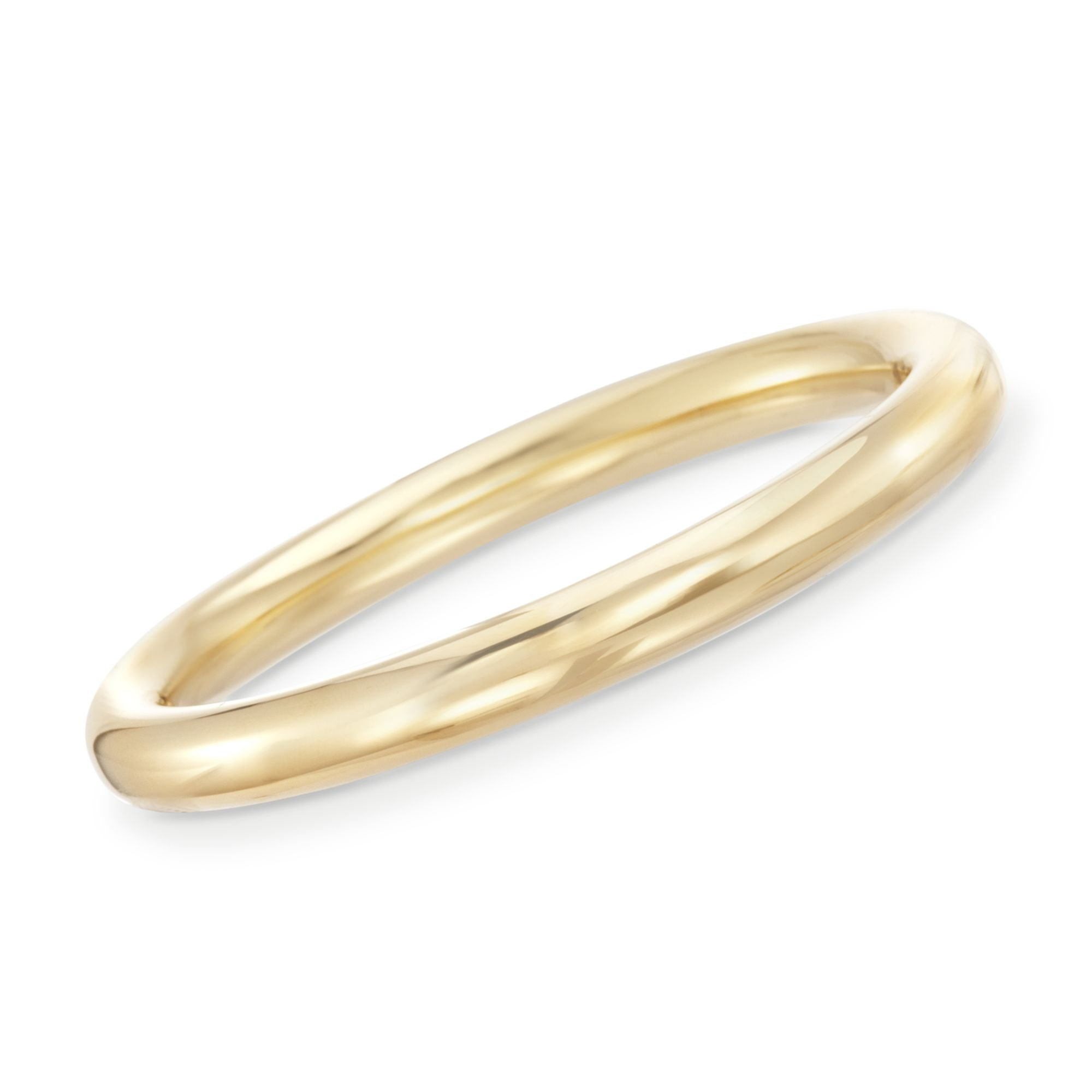 Ross-Simons Certified Italian Andiamo 14kt Yellow Gold Bangle Bracelet