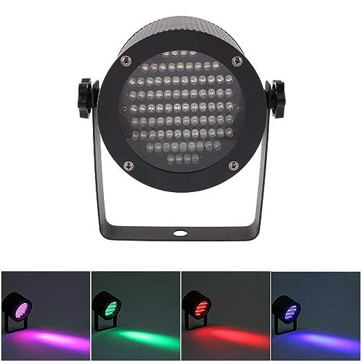 Amzdeal® luz multicolor de la escena-Lámpara de discoteca 86 LED rojo faro con