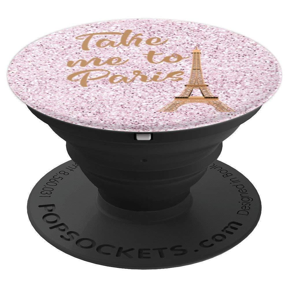 Eiffel Tower Take Me To Paris France Pink Cute - PopSockets Grip and Stand for Phones and Tablets