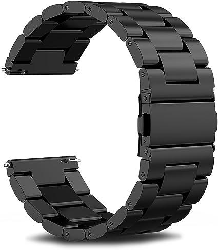 INFILAND Malla de Acero Inoxidable Pulsera de Repuesto para Samsung Gear S3 Frontier/Gear S3 Classic (Not Fit Gear S2 & S2 Classic),Negro: Amazon.es: Electrónica