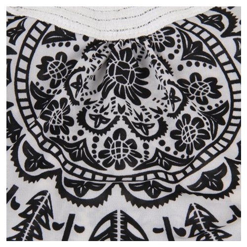 SODIAL(R) Mode BOHO Bohemien Vintage Floral Mini Robe sans manches