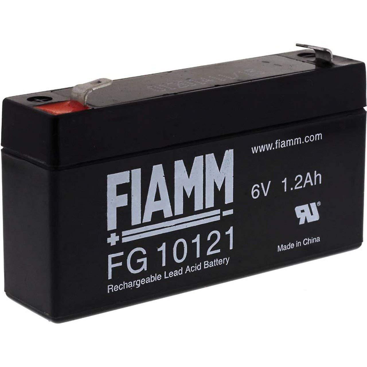 FIAMM Bleiakku FG10121 6V 1200mAh//7,2Wh Lead-Acid Schwarz