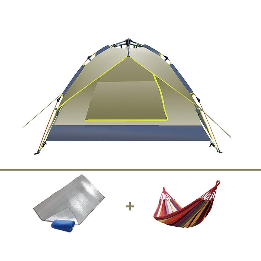 LINGZHIGAN キャンプテント屋外自動ファミリーセットダブルダブル防雨屋外キャンプパッケージ (サイズ さいず : D) B07F9W2615   D