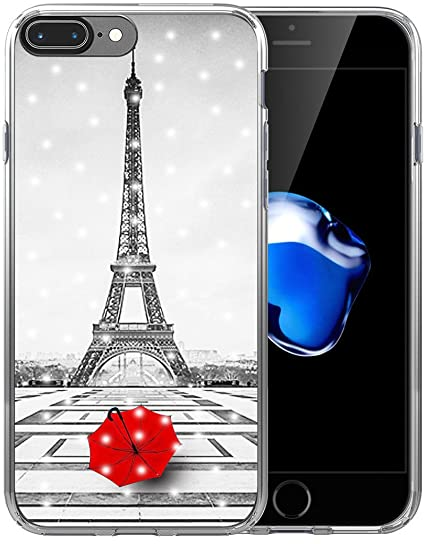 37cee60603 Case for iPhone 7 Plus Eiffel Tower/Case for iPhone 8 Plus/IWONE Rubber