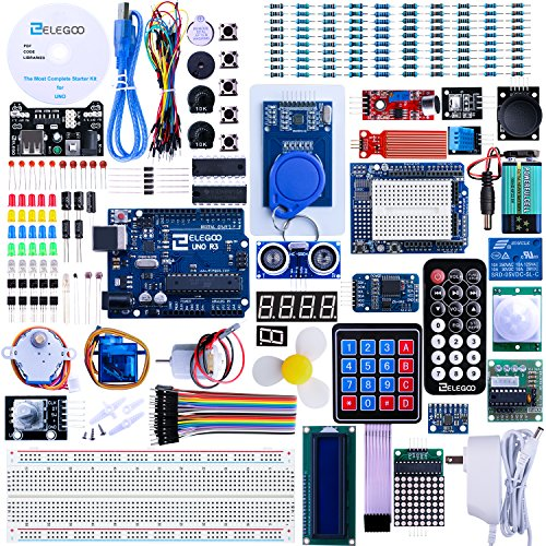 ELEGOO UNO R3 Project Most Complete Starter Kit w/Tutorial for Arduino UNO (63 Items)