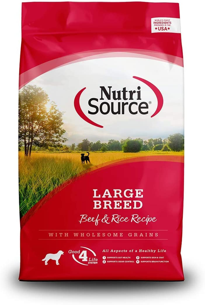 NutriSource Large Breed Beef & Rice Dog Food 30lb