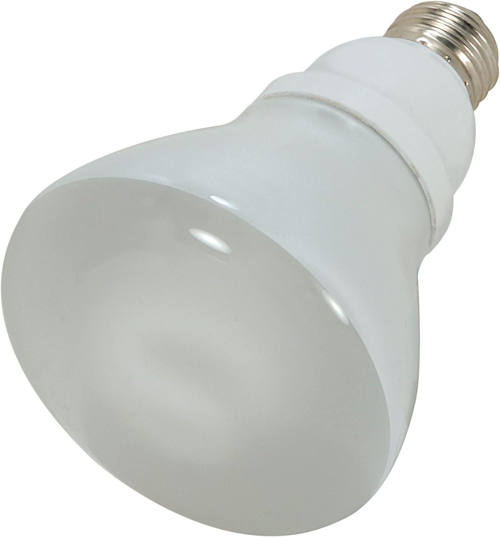 (Case of 12) Satco S7247 15-Watt (65W Equal) 2700K R30 Compact Fluorescent Lamp