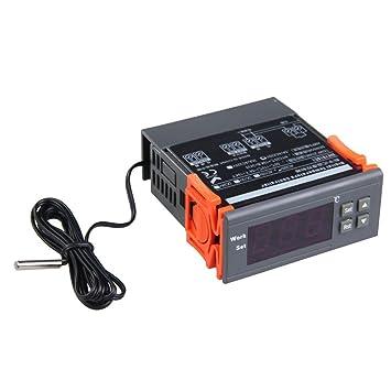 Vktech - 10 xAuto Termostato Digital Controlador de Temperatura Para Acuario (220V): Amazon.es: Electrónica
