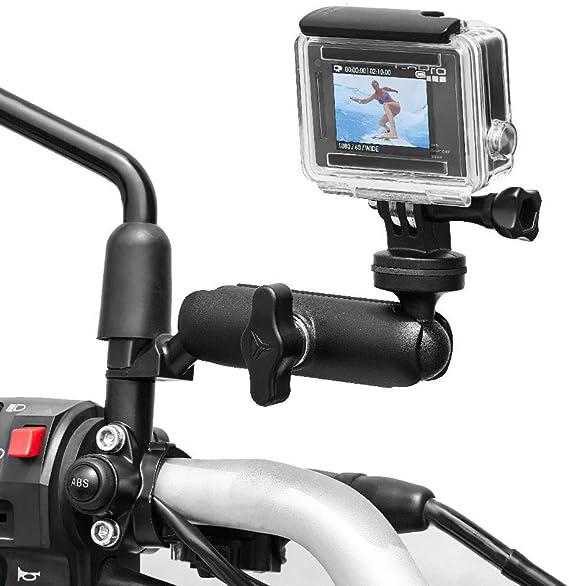 Motorcycle Rearview Mirror Mount Bracket Holder For Gopro Hero 5 DJI Osmo Action