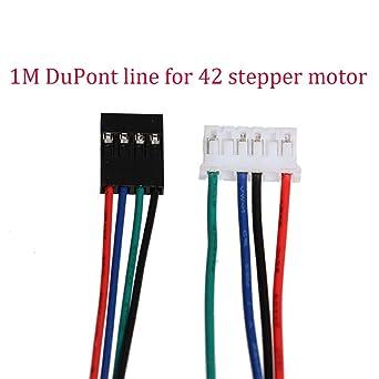 Accesorios de la impresora 3D 10pcs/lot 1M DuPont línea 4pin de ...
