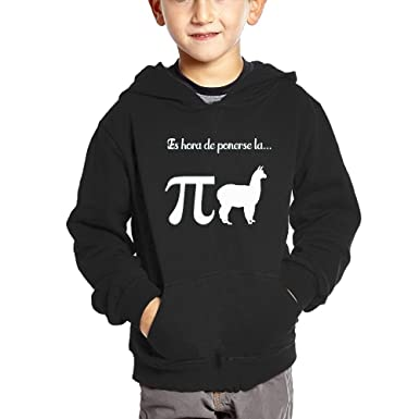 Funny Llama Pi Pijama Children Hooded Sweatshirt Pocket Pullover 2 Toddler
