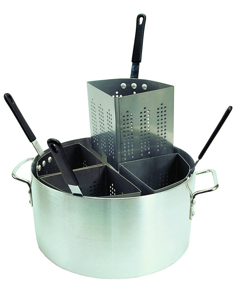 Update International (APSA-4) 20 Qt Aluminum Pasta Cooker w/Inserts
