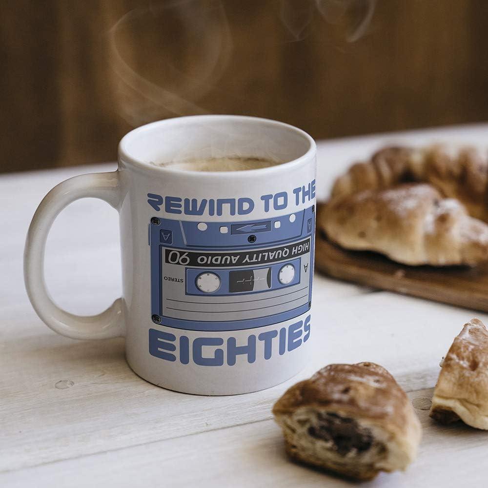 Rewind to the Eighties Cassette Mug Gift