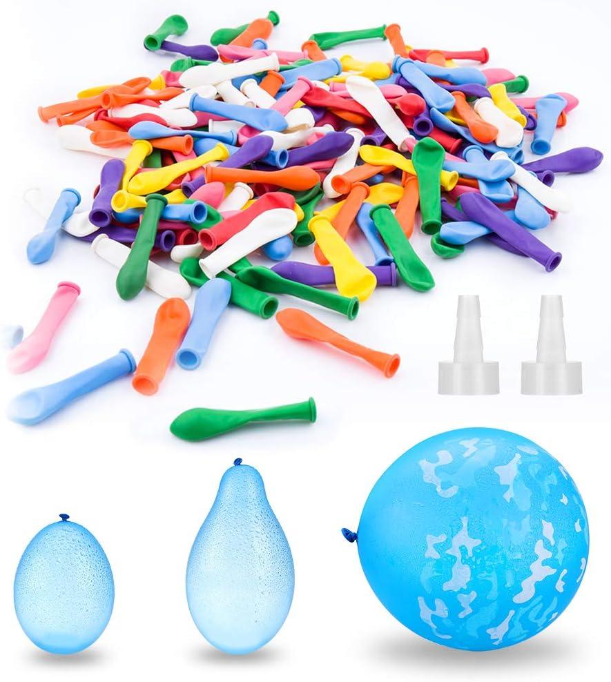 Elegear Globos de Agua, Magic Water Balloons Bombas de Agua Juguete 200 para Niños Juegos Rellenos Rápidos, Colorido(COLORIDO200)