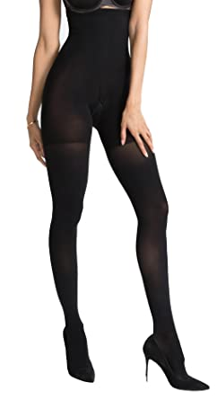 a3a8d18f97 Image Unavailable. Image not available for. Color: SPANX Women's Luxe Leg  Tights, Very Black ...